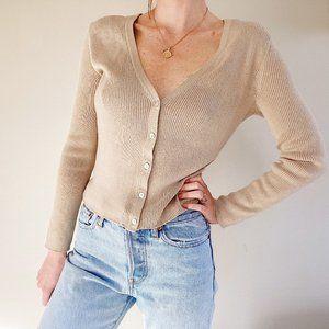 J. Jill Cropped Button Up Sweater Cardigan